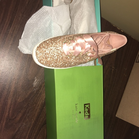 Keds Shoes - Rose gold glitter keds